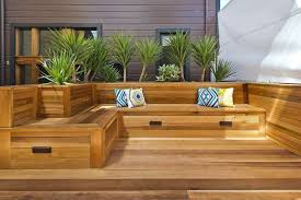 Decks With Benches Built In Built In Seating On Decks Google Search Deck Ideas Pinterest