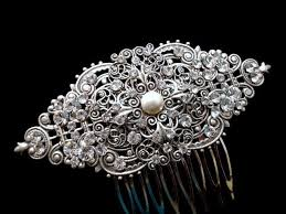 vintage hair combs bridal hair comb wedding headpiece vintage hair clip antique