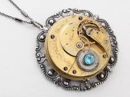 steampunk necklace vintage images Steampunk necklace vintage elgin gold pocket watch movement etsy jpg
