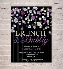 purple brunch u0026 bubbly bridal shower invitation champagne