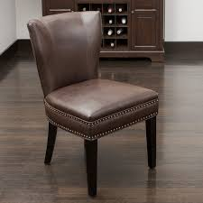Dining Chair Deals Christopher Home Jackie Brown Leather Accent Dining Chair