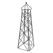 shop achla designs lattice obelisk 20 in w x 67 in h graphite