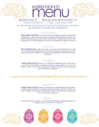 pages menu template free easter brunch menu template on behance
