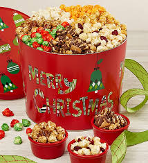 christmas tins christmas 7 way popcorn tin