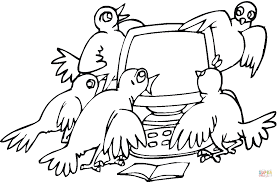 sparrows computer coloring free printable coloring pages