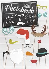 free fun printable christmas props wedding stationery from