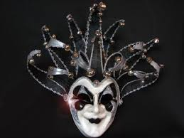 black and white masquerade mask bling joker black white mirrored venetian designer masquerade