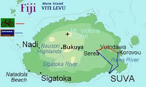 map of suva city m tb tour in fiji for australians