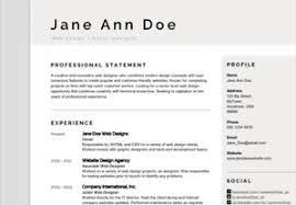 Sample Format Of A Resume by Resume Templates From Graphicriver
