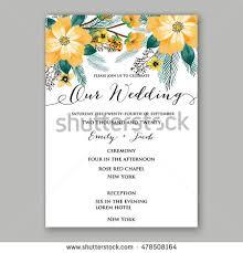 Wedding Invitation Greetings Poinsettia Wedding Invitation Sample Card Beautiful Stock Vector