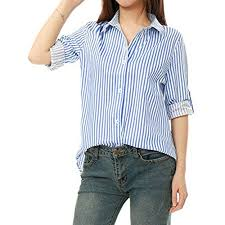 light blue top women s women s blue and white striped shirt amazon com