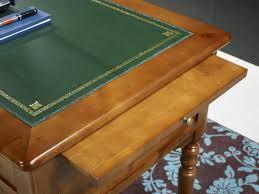 bureau merisier bureau ministre 5 tiroirs en merisier massif de style louis philippe