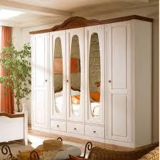 Schlafzimmerschrank Mit Aufbau Kleiderschrank Obus Im Landhausstil Mit Spiegel Pharao24 De
