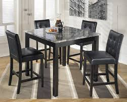 Tall Dining Room Sets by Amazon Com Ashley D154 223 Maysville Black Square Counter Table