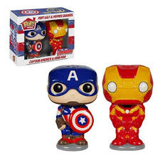 Novelty Salt And Pepper Shakers Salt And Pepper Shakers Captain America Iron Man Kitchen Radar