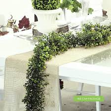boxwood garland rustic table runner we can package