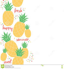 happy pineapple poster template for summer background design or