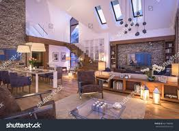 3d rendering cozy living room on stock illustration 461786008