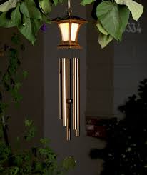 solar powered wind chime light solar wind chime the lakeside collection outdoor spaces