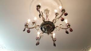 Elegant Livingrooms Beautiful Crystal Chandelier On The Ceiling View Showcase Of