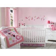 Minnie Crib Bedding Set Disney Baby Minnie Mouse Sitting Pretty 3 Crib Bedding Set