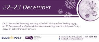transport services during the holidays and at the end of the
