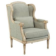 Wing Chair Falvie French Vine Soft Green Rustic Wing Chair Kathy Kuo Home