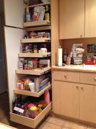 Single Door Pantry Cabinet High Light Brown Wooden Pantry Cabinet With Many Shelves Also