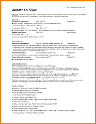Internship Resume Examples Resume And Materials Internship And Career Center
