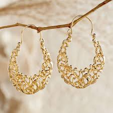 gold earings arabesque gold earrings national geographic store