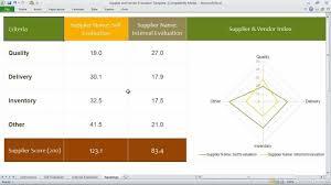 Supplier Scorecard Template Excel Supplier And Vendor Evaluation Template