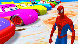 nursery rhymes disney pixar cars spiderman u0026 lightning mcqueen