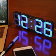 amazon com lily u0027s home minimalist led clock with 3 adjustable