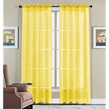 Yellow Sheer Curtains Editex Home Textiles Sheer Window Panel 55 By