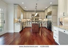white cabinets with cherry stain floor for the home pinterest