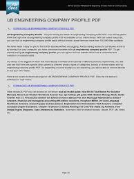 ub engineering company profile e books portable document format