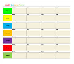 weekly menu templates free sle diet menu template 13 free documents in pdf
