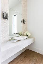 Modern Powder Room - cream contemporary powder room contemporary bathroom