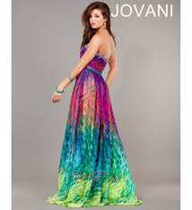 colorful empire long gown jovani 5821