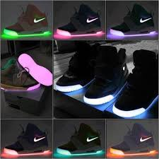 New Light Up Jordans Shoes Neon Pink Purple Nike Black Light Glow In The Dark