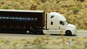 semi truck hitting the road daimler reveals self driving semi truck nbc news
