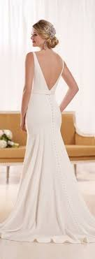made in usa wedding dress low back silk crepe wedding dress by made in usa