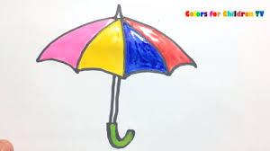 colors for children 85 drawing clock with umbrella umbrella