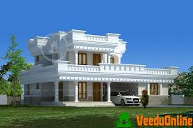 Double Floor Kerala Home Design 1643 sq ft