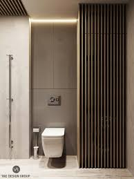 Simple Elegant Bathrooms by Wooden Slatted Feature Walls White Wood Simple Modern And Elegant