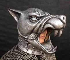 halloween dog mask game of thrones silver dog the hound amour helmet latex full