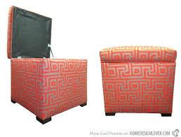 ottoman default name orange fabric storage ottoman round orange