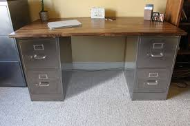 Rustic Desk Furniture 4 Drawer Rustic Desk Metal Filing Cabinet Industrial Desk