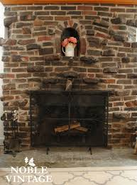 cleaning a stone fireplace noble vintage