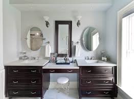 exciting double sink vanity with makeup area 81 in trends design